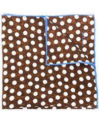 Kiton - Polka Dot Print Scarf - Lyst