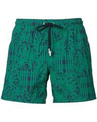 Paolo Pecora - Plants Print Swim Shorts - Lyst