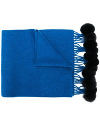 N.Peal Cashmere - Fur-bobble Knitted Scarf - Lyst