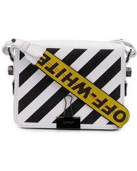 ac15a56c5581 Off-White c o Virgil Abloh - Diagonal Stripe Binder Clip Crossbody Bag -
