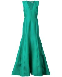 Halston - Fitted Structure Gown - Lyst