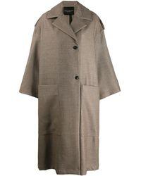 Erika Cavallini Semi Couture - Oversized Wool Coat - Lyst