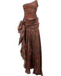 Faith Connexion | Camouflage Asymmetric Off-shoulder Gown | Lyst