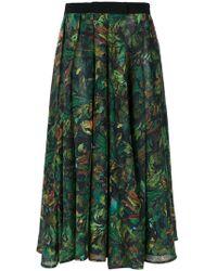 Andrea Marques - Pleated Midi Skirt - Lyst