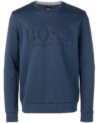 BOSS - Embossed Logo Sweatshirt - Lyst