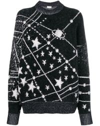 Saint Laurent - Lurex Constellation Sweater - Lyst