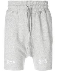 RTA - Logo Track Shorts - Lyst