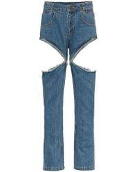 Telfar - High Waisted Cutout Jeans - Lyst