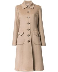 Michael Kors - Buttoned Mid Coat - Lyst