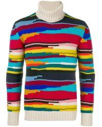 Missoni - Intarsien-Pullover mit Streifen - Lyst