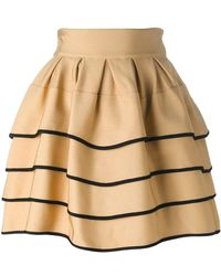 Fausto Puglisi - Striped Short Full Skirt - Lyst