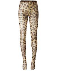 Dolce & Gabbana - Колготки С Леопардовым Узором - Lyst