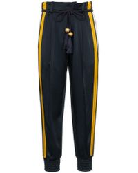 Peter Pilotto - High Waist Striped Cady Satin Trousers - Lyst