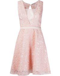 Martha Medeiros - Flared Lace Dress - Lyst