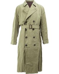 Ziggy Chen - Double Breasted Trench Coat - Lyst