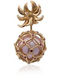 Yvonne Léon - Yellow Pineapple Pearl And Gold Earring - Lyst