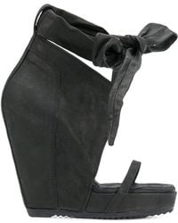 Rick Owens - Bow Wedge Sandals - Lyst