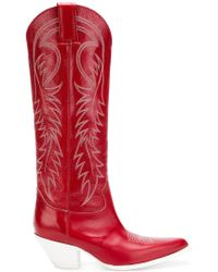 R13 - Pointed Cowboy Boots - Lyst