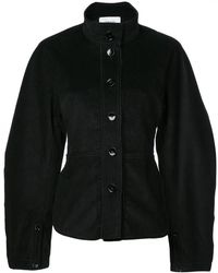 Lemaire - High Neck Buttoned Jacket - Lyst