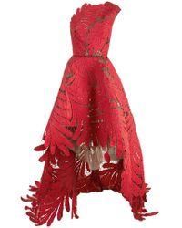 Oscar de la Renta - Vestido de fiesta asimétrico con diseño bordado - Lyst
