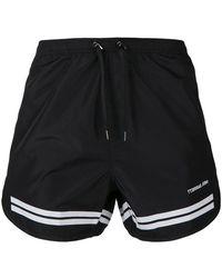 Neil Barrett - Stripe Detail Swim Shorts - Lyst