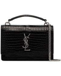 Saint Laurent Sunset Shoulder Bag in Black - Lyst 09f2840973912