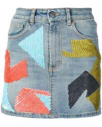 d8ab2b311 Amen Embellished Flared Skirt in Black - Save 20% - Lyst