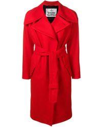 Vivienne Westwood - Oversized Lapel Belted Coat - Lyst