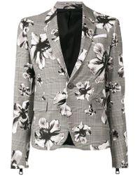 Neil Barrett - Check Floral Blazer - Lyst
