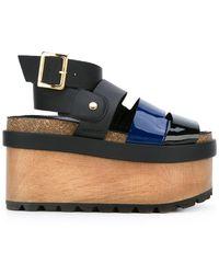 Sacai - Patent Flatform Sandals - Lyst
