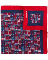 Kiton - Windows Print Scarf - Lyst