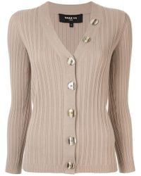 Paule Ka - Long-sleeve Fitted Cardigan - Lyst