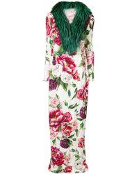 Dolce & Gabbana - Trimmed Maxi Coat - Lyst