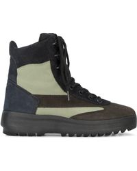 Yeezy - Brown Suede Military Boots - Lyst