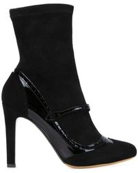 Tabitha Simmons - Kessie Leather and Suede Boots - Lyst
