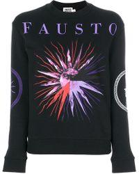 Fausto Puglisi   Sun Print Logo Sweatshirt   Lyst