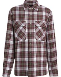 Burberry - Camisa de franela acolchada a cuadros - Lyst