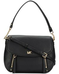 9c4b2d0fbb66 Lyst - MICHAEL Michael Kors Greenwich Small Leather Cross-Body Bag ...