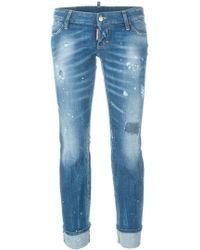 DSquared² - 'Sexy Twist Flared Rolled Up' Jeans - Lyst