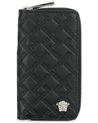 Versace - Embossed Zip Around Key Case - Lyst