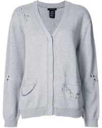 Thomas Wylde - Distressed And Chain Detail Cardigan - Lyst