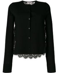 Dorothee Schumacher - Round Neck Cardigan With Lace Back - Lyst