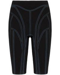 Mugler - Contrast Stitch Cycling Shorts - Lyst