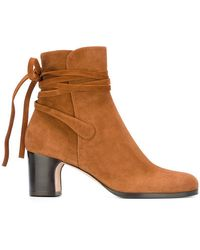 Unützer - Tied Detailing Ankle Boots - Lyst