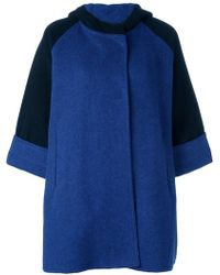 Gianluca Capannolo - Two Tone Hooded Coat - Lyst
