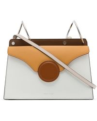 Danse Lente - White And Brown Phoebe Leather Cross-body Bag - Lyst