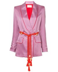Peter Pilotto - Satin Blazer - Lyst