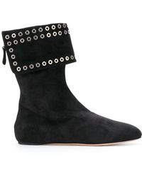 Alexander McQueen | Eyelet Ankle Boots | Lyst