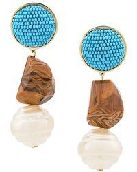 Shourouk - Beaded Drop Earrings - Lyst