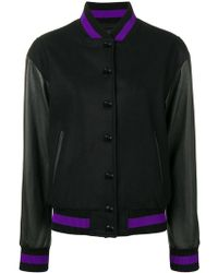 Versus - Embroidered Bomber Jacket - Lyst